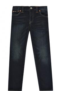 Джинсы прямого кроя с декоративными потертостями Polo Ralph Lauren