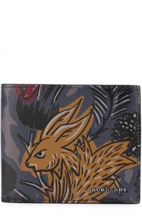 Кожаное портмоне с принтом Burberry