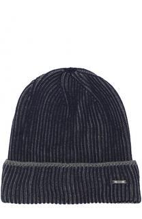 Шерстяная вязаная шапка BOSS