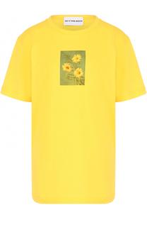 Хлопковая футболка с принтом Walk of Shame