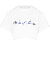 Укороченная футболка с вышивкой Walk of Shame
