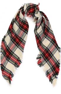 Шерстяной шарф с необработанными краями Polo Ralph Lauren
