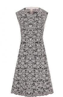 Приталенное платье-миди без рукавов Alaia