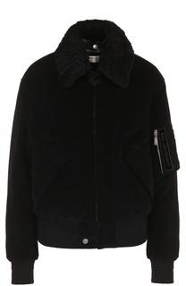 Куртка на молнии с воротником из овчины Saint Laurent