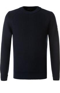 Шерстяной свитер с кожаной отделкой Belstaff