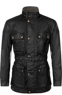 Утепленная куртка на молнии с поясом и воротником-стойкой Belstaff