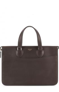Кожаный портфель на молнии Bertoni