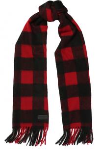 Шерстяной шарф с бахромой Dsquared2