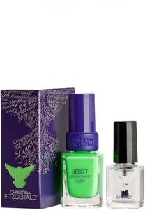 Лак для ногтей Jess T / Сочное зеленое яблоко + Bond-подготовка Christina Fitzgerald