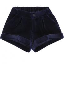 Хлопковые шорты с отворотами и эластичной вставкой на поясе Oscar de la Renta