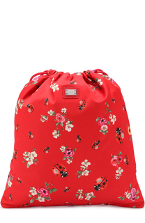 Текстильный рюкзак с принтом Dolce & Gabbana