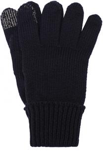 Шерстяные перчатки с металлизированной отделкой Il Trenino