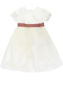 Платье с завышенной талией и контрастным поясом Caf