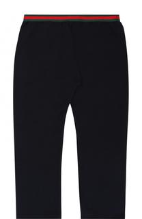 Хлопковые брюки прямого кроя с контрастным эластичным поясом Gucci