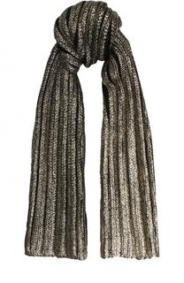 Шерстяной шарф с металлизированной отделкой Catya