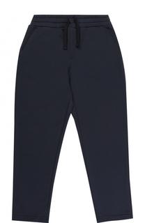 Хлопковые брюки прямого кроя на кулиске с вышивкой Dolce & Gabbana