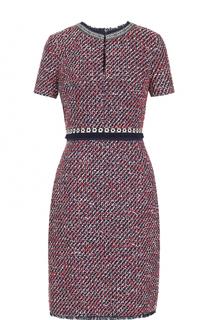 Буклированное приталенное платье-миди Tory Burch
