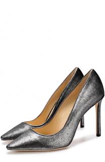 Туфли Romy 100 из металлизированного текстиля Jimmy Choo