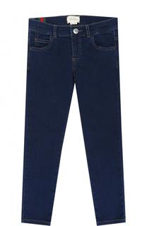 Зауженные джинсы из эластичного хлопка Gucci