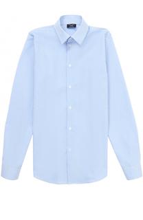 Хлопковая рубашка прямого кроя в мелкую клетку Dal Lago
