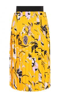 Плиссированная юбка-миди с принтом Emilio Pucci