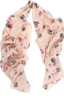 Шелковая шаль с принтом Valentino