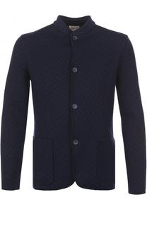 Приталенный пиджак с воротником-стойкой Armani Collezioni