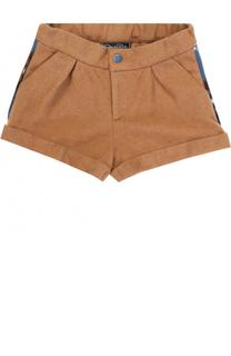 Шерстяные шорты с отворотами и ламапасами Oscar de la Renta