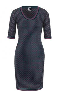 Приталенное мини-платье с укороченным рукавом M Missoni