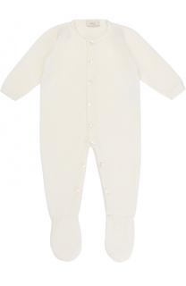 Шерстяной комбинезон фактурной вязки Baby T