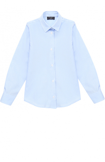 Хлопковая рубашка прямого кроя Dal Lago