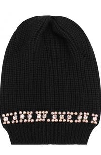 Вязаная шапка с декоративной отделкой Blugirl