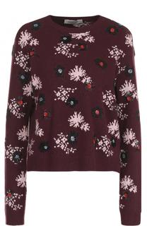 Пуловер с принтом и круглым вырезом Valentino