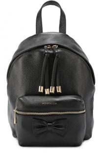 Кожаный рюкзак с бантом Monnalisa