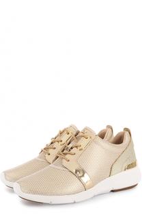 Комбинированные кроссовки Amanda на шнуровке MICHAEL Michael Kors