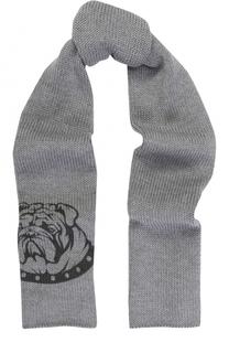 Шерстяной шарф с принтом Catya