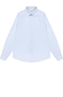 Хлопковая рубашка прямого кроя Gucci