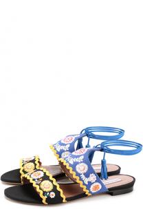 Текстильные сандалии с вышивкой Tabitha Simmons