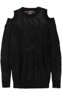 Пуловер свободного кроя с открытыми плечами Roberto Cavalli