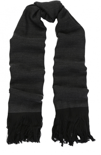 Шерстяной шарф с бахромой Armani Collezioni