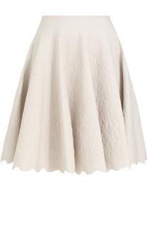 Мини-юбка с фактурной отделкой Alaia