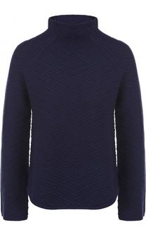 Шерстяной свитер фактурной вязки Armani Collezioni