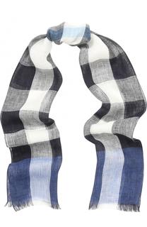 Льняной шарф с принтом Burberry