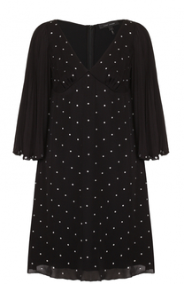 Шелковое мини-платье со стразами Marc Jacobs