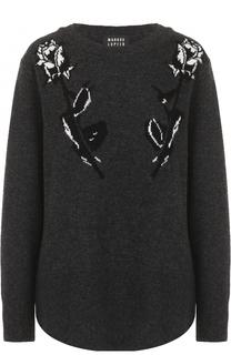Удлиненный шерстяной пуловер с круглым вырезом Markus Lupfer