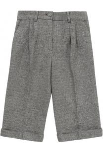 Укороченные брюки из хлопка с отворотами Dolce & Gabbana