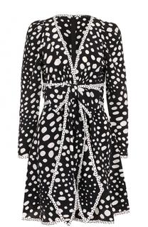 Шелковое мини-платье с принтом Marc Jacobs