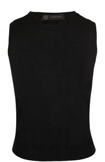 Шерстяной топ без рукавов Versace