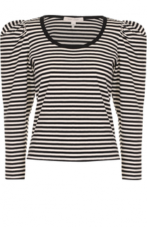 Пуловер в полоску с рукавом-фонарик Marc Jacobs