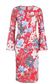 Платье-миди с длинным рукавом и цветочным принтом Leonard